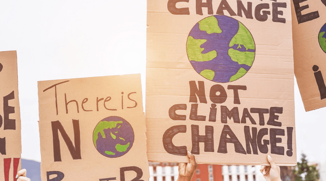Two Signs showing people moving past self-censorship about climate change [signs]