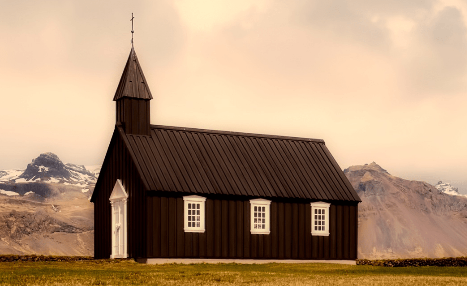 A picture of a church to introduce an article on church exceptionalism