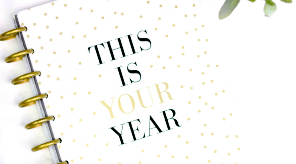 "A ""This Is Your Year"" book, highlighting the article's theme of making resolutions and goals without falling prey to emotional fallacies"