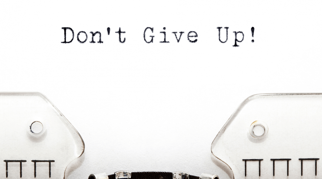 Don't give up on a typewriter--intro to a blog post on coping strategies to keep going when you can't fix everything