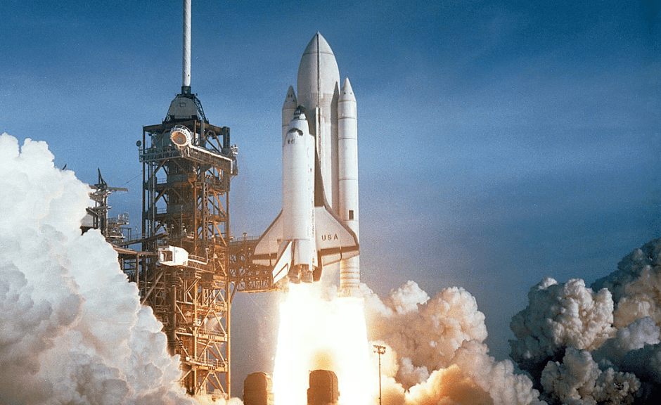 """A picture of the space shuttle introducing an article on why the GOP's """"viewpoint neutrality"""" policies are problematic."""